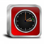picture of daylight saving time  - glossy red daylight saving time button 3d - JPG