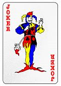 stock photo of joker  - The joker from a pack of playing cards isolated on a white background - JPG