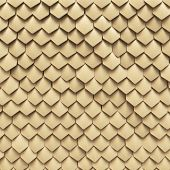 stock photo of serpent  - Background of fantasy dragon skin from yellow scales - JPG