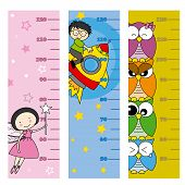 image of measuring height  - children height meter - JPG