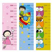 foto of measuring height  - children height meter - JPG