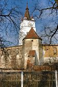 Saxon Fortified Church In Honigberg, Harman In Transylvania, Romania