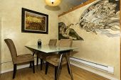Постер, плакат: Dining Corner With Painted Wall