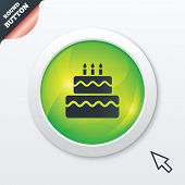 foto of cake-ball  - Birthday cake sign icon - JPG