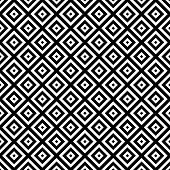picture of hypnotizing  - Black and White Hypnotic Background Seamless Pattern - JPG