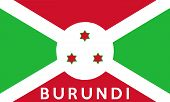 pic of burundi  - very big size illustration country flag of burundi - JPG