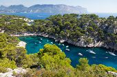 picture of inlet  - Calanques of Port Pin in Cassis in France - JPG