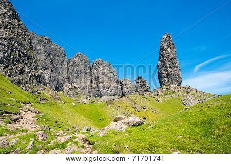 Spires of rock on the Isle of Skye