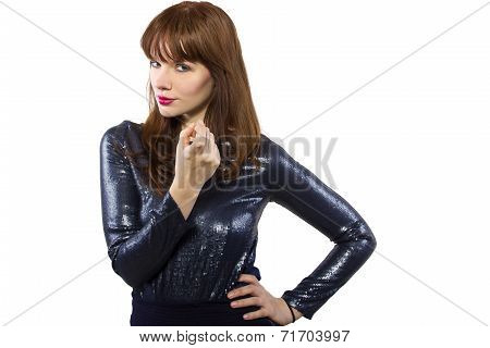 Girl in Shiny Dress
