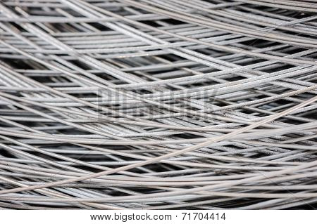 hank of metal wire background