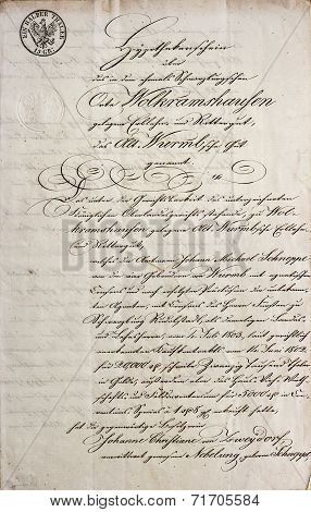 Handwritten Text. Antique Manuscript. Vintage Letter