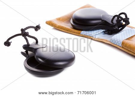 Spanish flamenco castanets