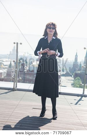 MOSCOW, RUSSIA, May, 13: Actress Fanny Ardant. Premiere of the movie