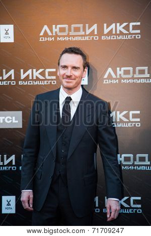 MOSCOW, RUSSIA, May, 13: Actor Michael Fassbender. Premiere of the movie