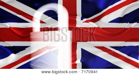 Flag Of United Kingdom Wavy Security