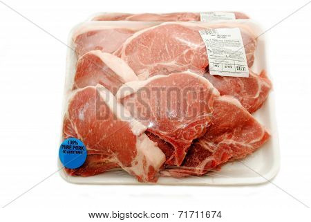 Raw Packaged Organic Porkchops
