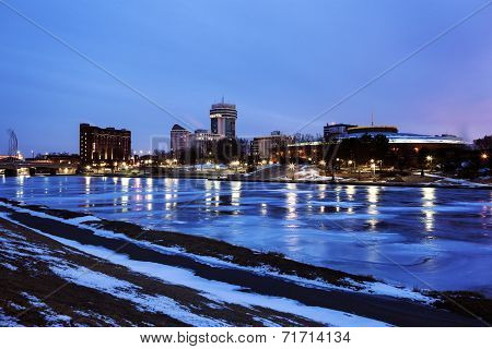 Wichita, Kansas Accross The Frozen River
