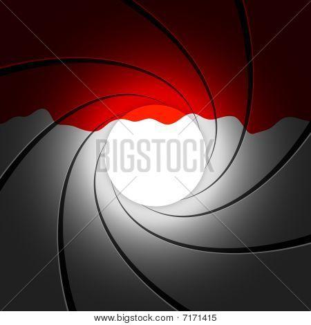 Gun barrel with blood - vector illustration