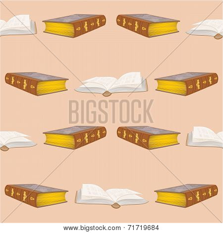 Seamless Texture Old Book Bound Vintage Vector
