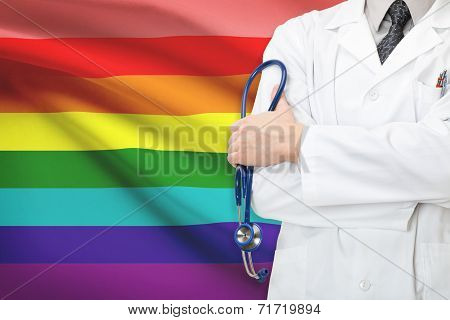 Concept Of National Healthcare System - Rainbow Flag - Lgbt Flag