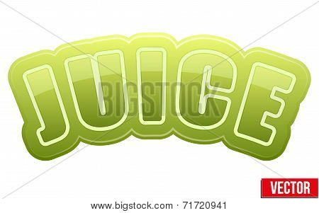 Label For Celery Juice. Bright Premium Design. Vector Illustration.