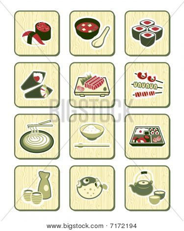 Japanese sushi-bar icons | BAMBOO series