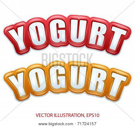Premium Quality Collection Of Yogurt Labels With Different Colors.