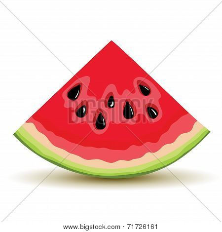 Fresh slice of watermelon