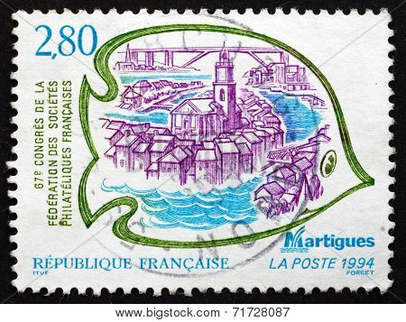 Postage Stamp France 1994 View Of Martigues, France