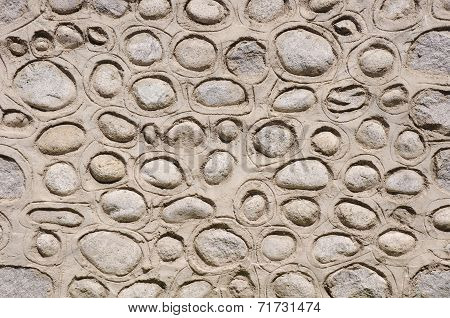 Old Stone With Plaster Wall