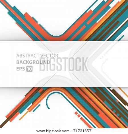 Abstract vector background. Technology geometric graphic retro style lines design.