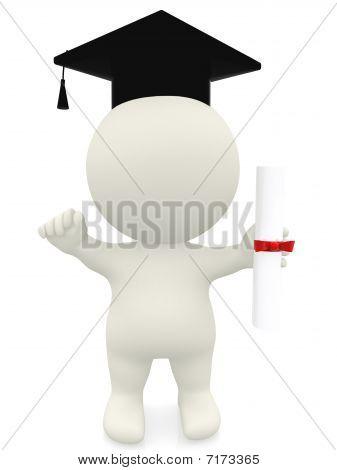 3D Man - Graduation Portrait