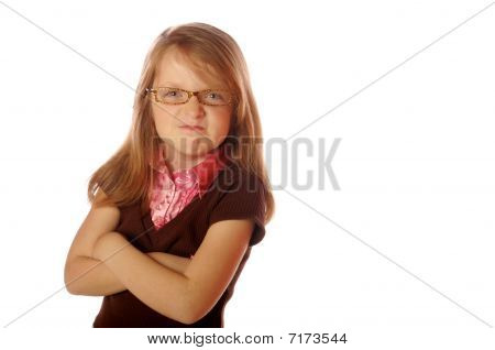 Isolated image of young girl