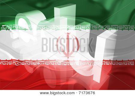 Flag Of Iran Wavy Education