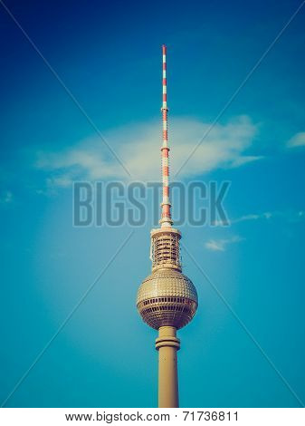 Retro Look Tv Tower Berlin