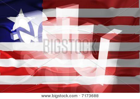 Flag Of Liberia Wavy Education