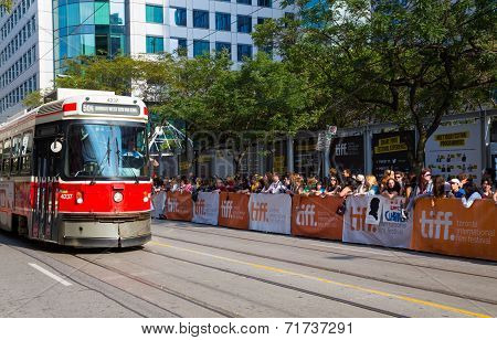 Spectators On The Street For Tiff