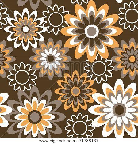 Retro Floral in Autumn Colors