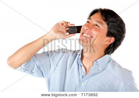 Casual Man On The Phone
