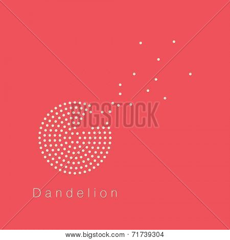 Dandelion vector logo design template