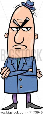 Angry Man Cartoon Illustration