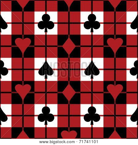Card Suits Plaid Pattern