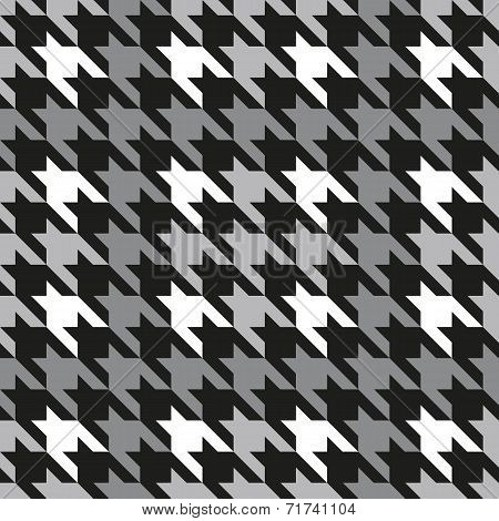Plaid Houndstooth in Grey