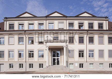 School Building Facade