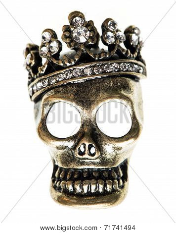 Queen Or King Skull With Crown