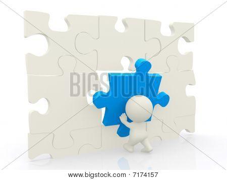 3D Man - Puzzle Assembling