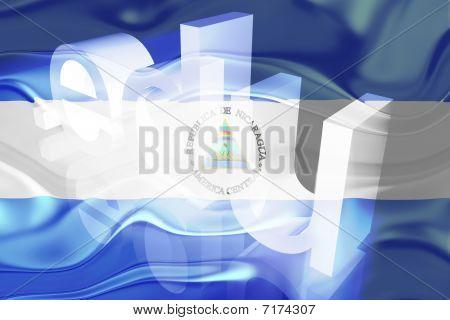 Bandeira da Nicarágua ondulado educação