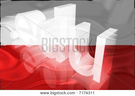 Bandeira da Polónia ondulado educação