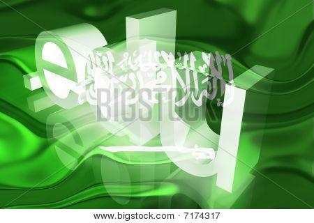 Bandeira da Arábia Saudita ondulado educação
