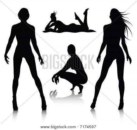 Woman Silhouette Set